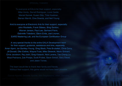 Breakaway Games special thanks credits in Kane's Wrath